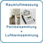 Gutachter-Baubiologe mißt Rauluft auf Schimmel-Asbest-KMF-Staubpartikel
