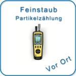 Luftpartikelmonitoring und Klimadatenerfassung mit integrierter Foto-Video-Funktion zur Dokumentation.