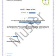 Zertifikat nach Schimmelpilzsanierung